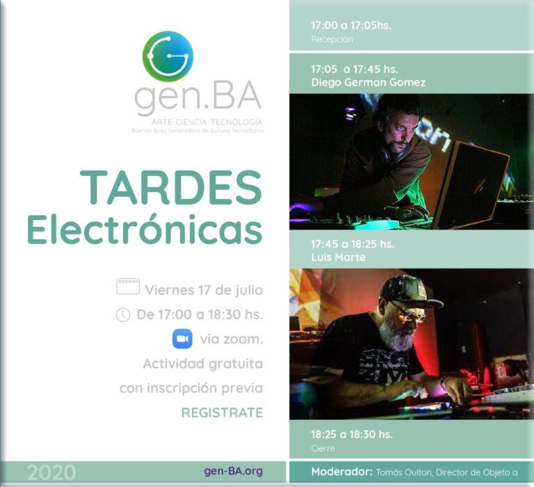 Recital online de música electronica