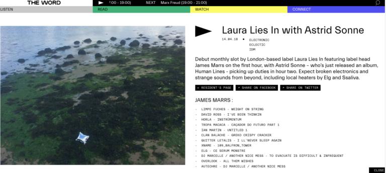 London Laura Lies label